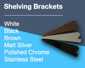 Twin Slot Shelving Brackets