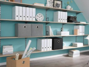 What are the benefits of an organised shelving unit?