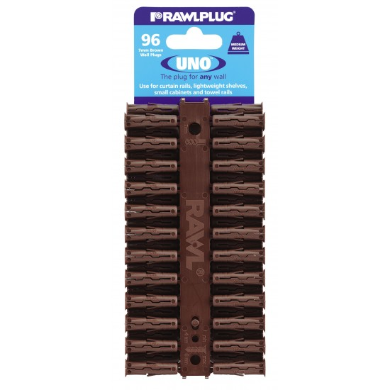 RawlPlug Uno Wall Fixings 7x30mm - Pack 96