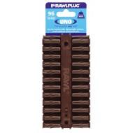 RawlPlug Uno Wall Fixings 7x30mm - Pack 96