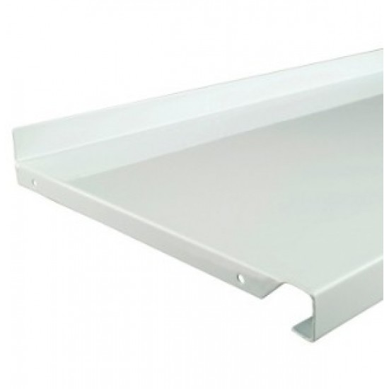 500mm x 170mm White Metal Shelf