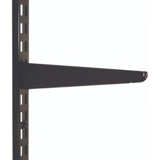 120mm Black Twin Slot Shelving Bracket
