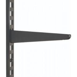 220mm Black Twin Slot Shelving Bracket