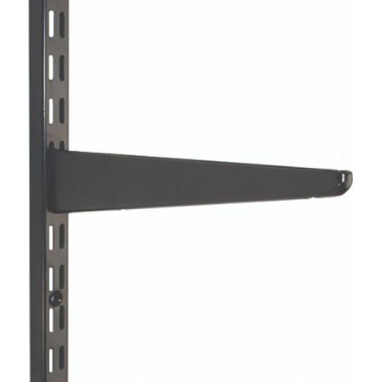 320mm Black Twin Slot Shelving Bracket