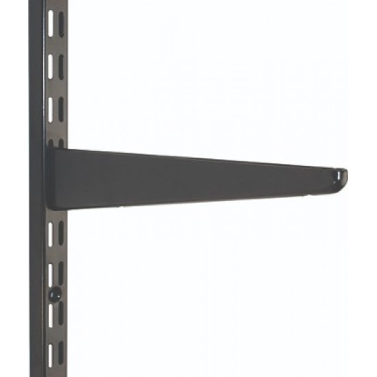 370mm Black Twin Slot Shelving Bracket