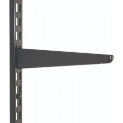 470mm Black Twin Slot Shelving Bracket