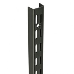 0.71m/710mm Black Twin Slot Shelving Upright