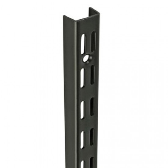 1.22m/1220mm Black Twin Slot Shelving Upright