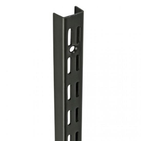 1.22m/1220mm Black Twin Slot Shelving Upright