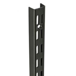 1.98m/1980mm Black Twin Slot Shelving Upright