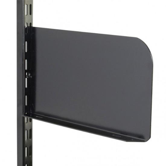 Black Shelf End 250mm x 150mm - Twin Slot Shelving Pair