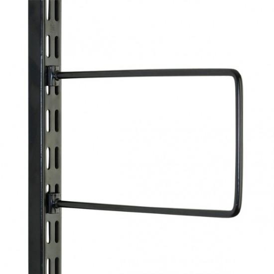 Black Flexi Bookend 150mm x 120mm - Twin Slot Shelving Pair