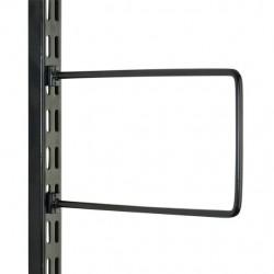 Black Flexi Bookend 200mm x 120mm - Twin Slot Shelving Pair