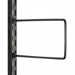 Black Flexi Bookend 250mm x 150mm - Twin Slot Shelving Pair