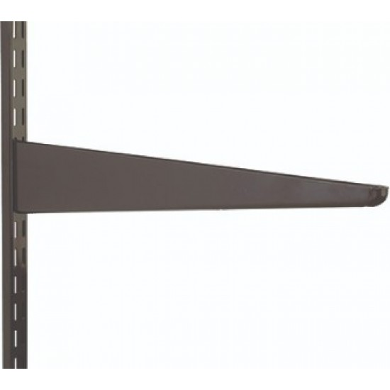 120mm Brown Twin Slot Shelving Bracket