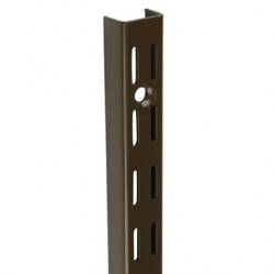 1.0m/1000mm Brown Twin Slot Shelving Upright