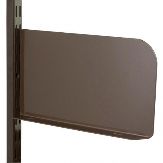Brown Shelf End 150mm x 150mm - Twin Slot Shelving Pair