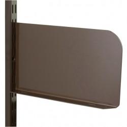 Brown Shelf End 200mm x 150mm - Twin Slot Shelving Pair