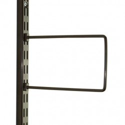 Brown Flexi Bookend 150mm x 120mm - Twin Slot Shelving Pair