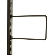 Brown Flexi Bookend 200mm x 120mm - Twin Slot Shelving Pair