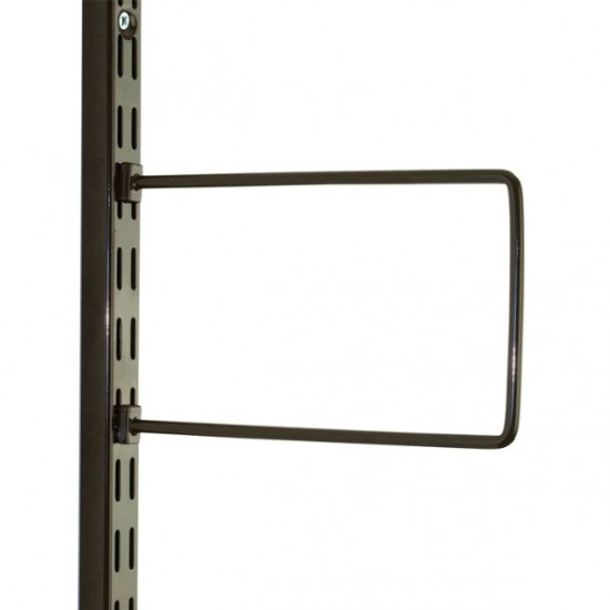 Brown Flexi Bookend 250mm x 150mm - Twin Slot Shelving Pair