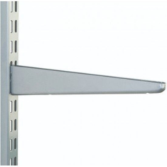 120mm Matt Silver Twin Slot Shelving Bracket