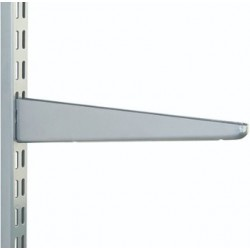 270mm Matt Silver Twin Slot Shelving Bracket