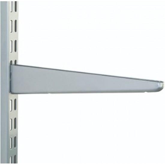 370mm Matt Silver Twin Slot Shelving Bracket