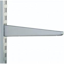 370mm Matt Silver Twin Slot Shelving Bracket