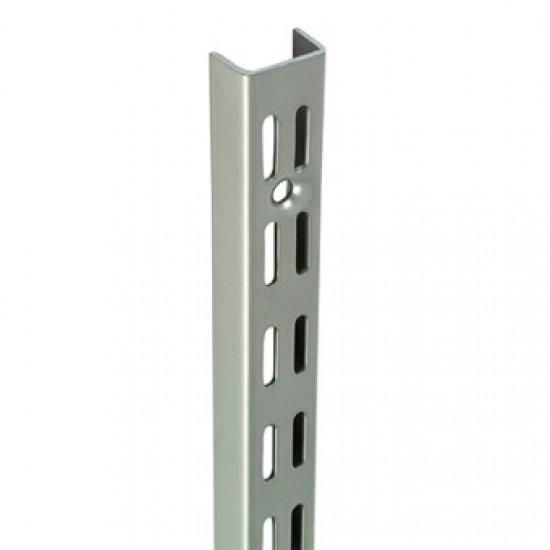 0.43m/430mm Matt Silver Twin Slot Shelving Upright
