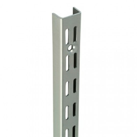 1.22m/1220mm Matt Silver Twin Slot Shelving Upright