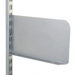 Matt Silver Shelf End 250mm x 150mm - Twin Slot Shelving Pair