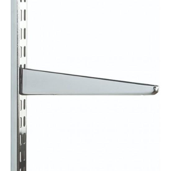 120mm Polished Chrome Twin Slot Shelving Bracket