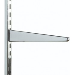 170mm Polished Chrome Twin Slot Shelving Bracket