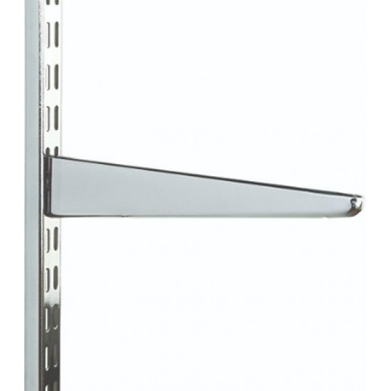 220mm Polished Chrome Twin Slot Shelving Bracket