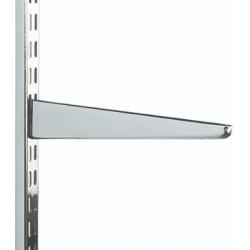 220mm Polished Chrome Twin Slot Shelving Bracket