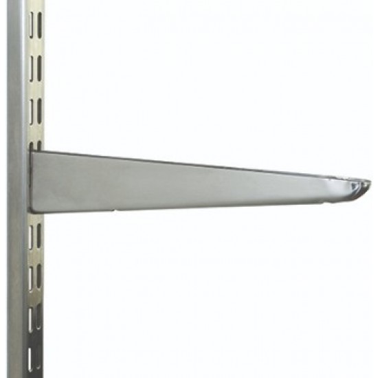 270mm Polished Chrome Twin Slot Shelving Bracket