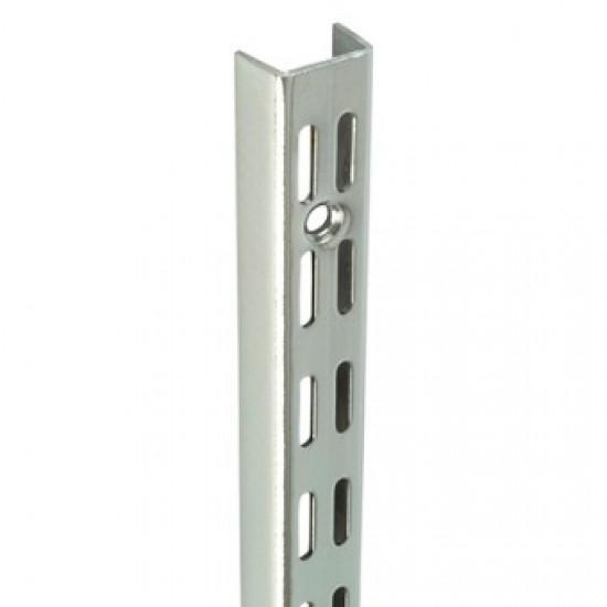 0.43m/430mm Polished Chrome Twin Slot Shelving Upright