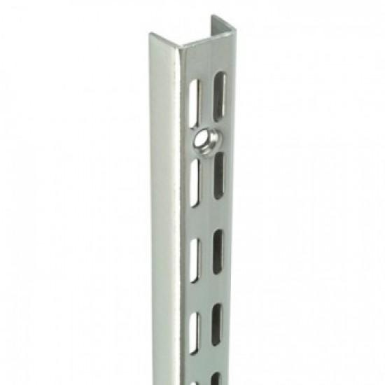 0.71m/710mm Polished Chrome Twin Slot Shelving Upright