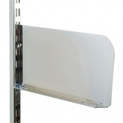 Polished Chrome Shelf End 250mm x 150mm - Twin Slot Shelving Pair