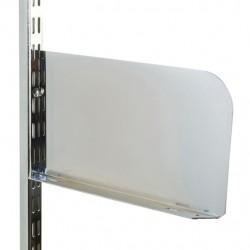 Polished Chrome Shelf End 250mm x 150mm - Twin Slot Shelving Pair