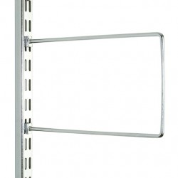 Polished Chrome Flexi Book Ends 200mm x 120mm - Twin Slot Shelving Pair
