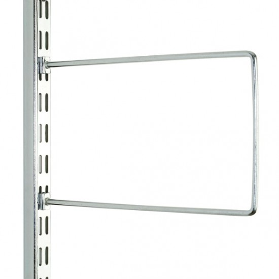 Polished Chrome Flexi Book Ends 250mm x 150mm - Twin Slot Shelving Pair