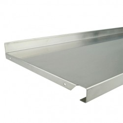 Metal Shelf 1000mm x 370mm Stainless Steel