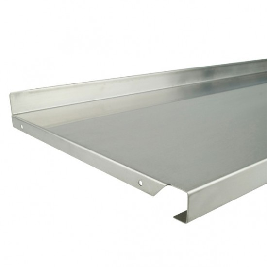 Metal Shelf 1000mm x 370mm Stainless Steel