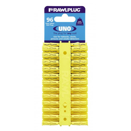 RawlPlug Uno Wall Fixings 5x25mm - Pack 96