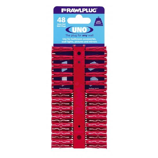RawlPlug Uno Wall Fixings 6x28mm - Pack 48