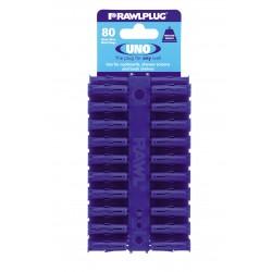 RawlPlug Uno Wall Fixings 8x32mm - Pack 80
