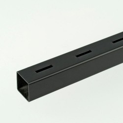 2m ProFrame Black Single Slot Square Tube