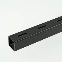 2m ProFrame Black Single Slot Square Tube